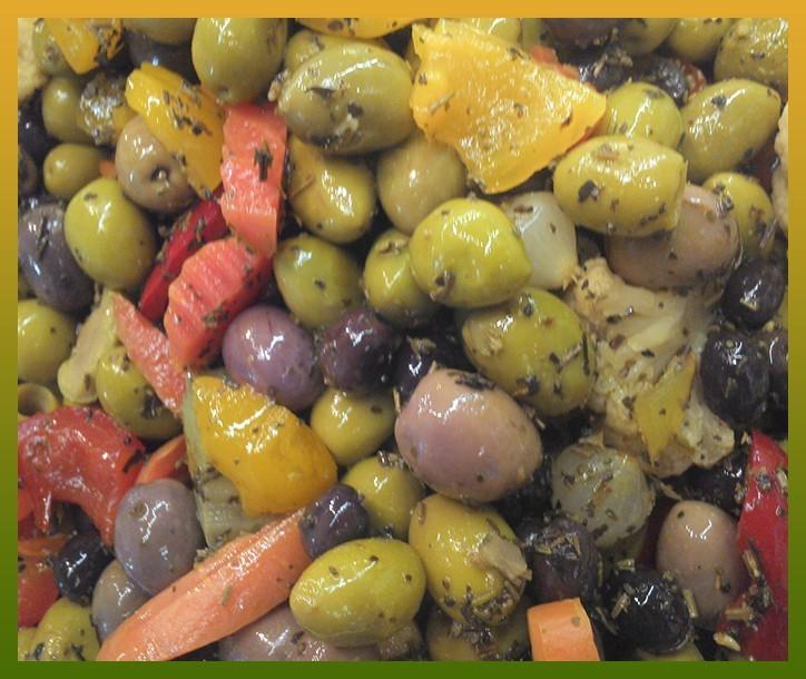 Mélange d'olives